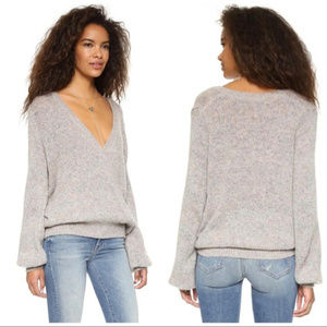 Free People Karina Wool-Blend Wrap Sweater